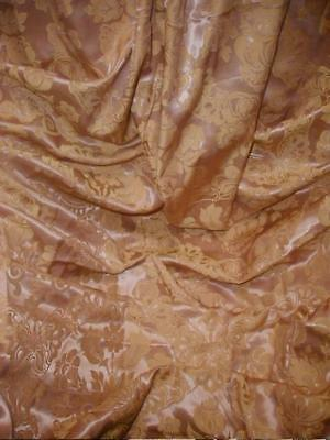 """Gorgeous Vintage 1930s """"Ashes Of Roses"""" Satin Brocade Drape Blush Pink & Butter"""