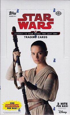 Topps Journey to Star Wars : The Last Jedi sealed hobby box 24 packs of 8 cards