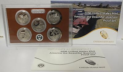 2016 National Park ATB Quarters PROOF Set - US Mint - America the Beautiful