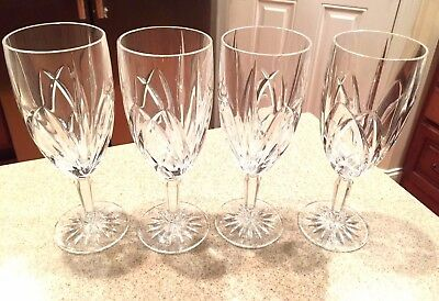 MARQUIS by WATERFORD Brookside Set Of 4 Iced Beverage Glasses / Goblet