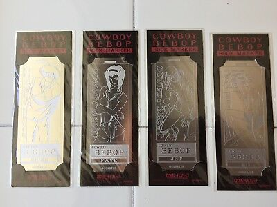 Cowboy Bebop Rare Sunrise metal bookmarks set of 4 Spike Faye Jet Ed Movic