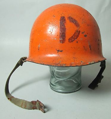 Wwii Us Army M1 Helmet Swivel Bale Front Seam Usn Ship Painted Navy H2