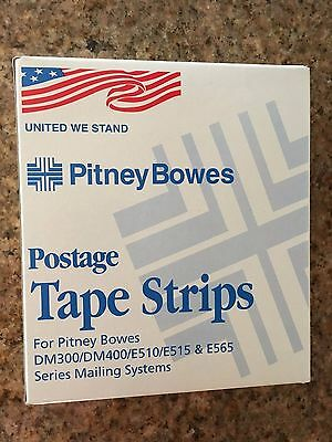 Pitney Bowes United We Stand Patriotic Tape Sheets, Reorder 613-3, 300 Tapes NEW