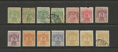 Serbia Yugoslavia ~ 1901 King Alexander ( Used Part Set)