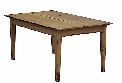 Primitive Farm Table Farmhouse Country Painted Rustic Pine Kitchen Dining Decor