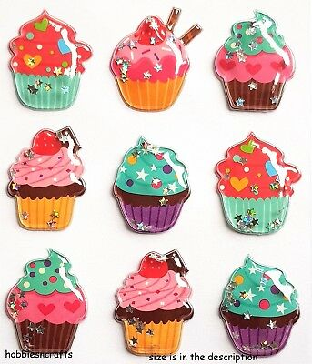 Recollections 3-D Stickers - Bubble Domed Cupcake Shaker Stickers
