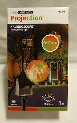 Gemmy LED Projection KALEIDOSCOPE -turning, swirling light - RED & GREEN