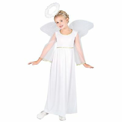 Girls Heavenly Angel Kids Fancy Dress Up And Play Party Halloween Costume Outfit