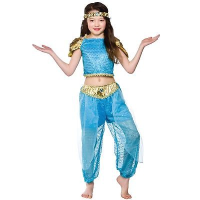 Girls Arabian Princess Costume Fancy Dress Up Party Halloween Outfit Kids Child  sc 1 st  PicClick UK & GIRLS Tudor Peasant Girl Costume Fancy Dress Up Party Halloween ...