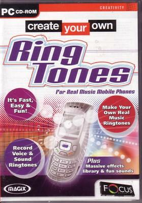 Create Your Own Mobile Phone Ring Tones, Fast, Easy & Fun, PC Software New