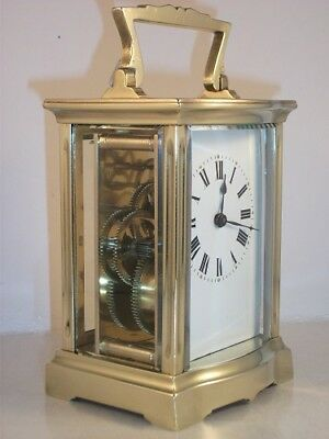 Antique French carriage clock C1910. With key. Restored & serviced in Sept 2017.