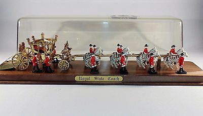 Crescent Toys 1977 Silver Jubilee Royal State Coach In Display Case