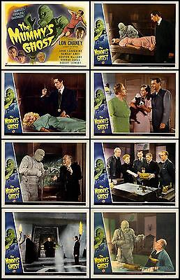 THE MUMMY'S GHOST LON CHANEY JR Full SET OF 8  INDIVIDUAL 8x10 LC PRINTS 1944