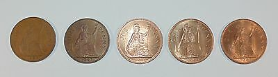 Joblot of Coins 1962 1963 1964 1965 1967 1 One British Penny Coin