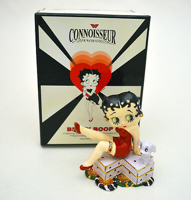"""Betty Boop Figurine Licensed """"double Dice""""trinket Box, By Connoisseur, New W/box"""