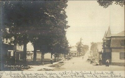 Monmouth Center ME Street View c1905 Real Photo Postcard