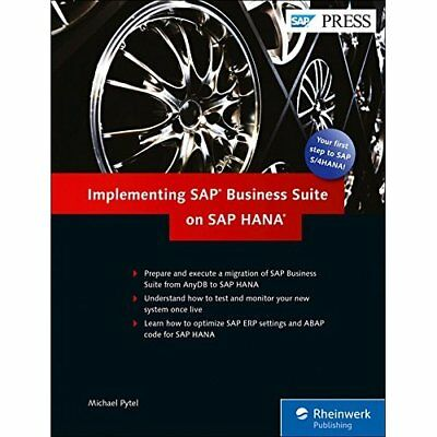 Implementing SAP Business Suite on SAP HANA - Hardcover NEW Michael Pytel ( 2016