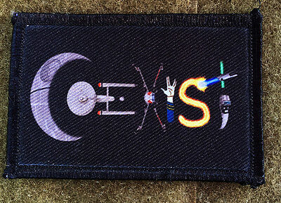 Star Wars Star Trek Coexist Morale Patch Funny Military Tactical Army Flag USA