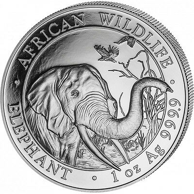 SOMALIE 100 Shillings Argent 1 Once Elephant 2018 - 1 Oz silver coin