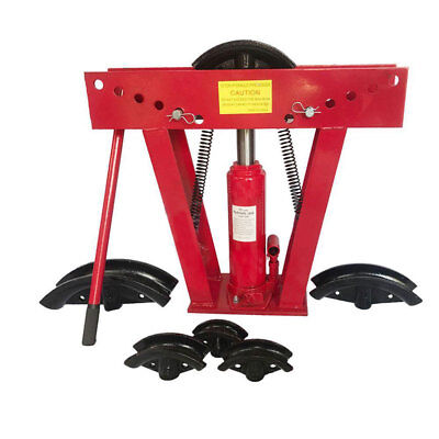 12 Ton Hydraulics Pipe Bender 6 Dies Tubing Exhaust Tube Bending Manual Tool Red