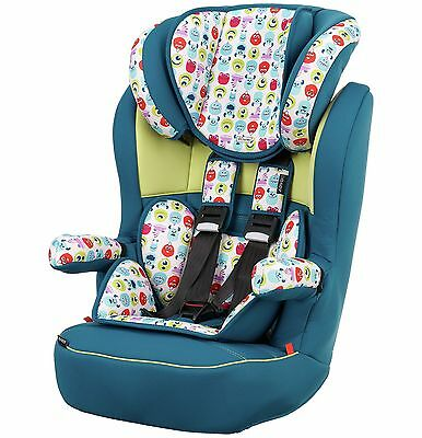 Disney Monsters Booster Seat Height Adjustable Head Support - Blue -From Argos