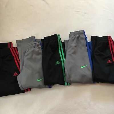 Lot Of 8 Boys Pants Nike Adidas Fleece Like Lining Warm Up Track Pants Sz 6