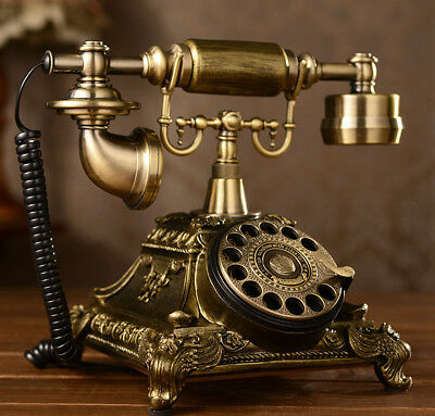 Antique Rotary Phone French Style Vintage Retro Old Fashioned Telephone Princess