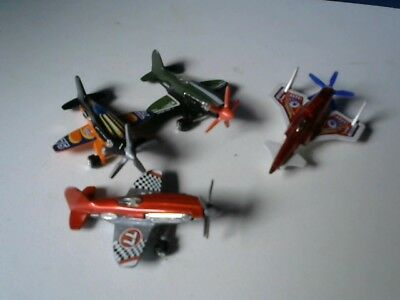 4 Die-Cast Hot Wheels and Other Brand Planes