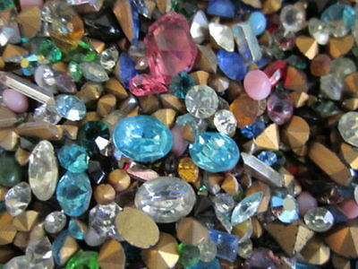 300+Pc.LOT! NEW GLASS GEMSTONES~CRAFTING/Jewelry~N~MORE!-HIGH Quality-U.S SELLER