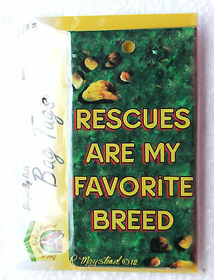 Rescues are my Favorite Breed Silicon Bag Tag Cat Breed Ruth Maystead Artwork