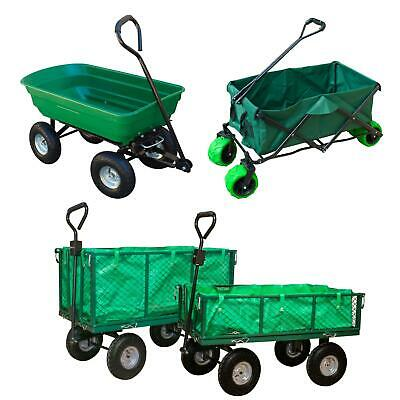 Heavy Duty Outdoor Garden Trailer Large Tipper Cart Trolley Truck Wheelbarrow