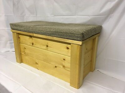 STORAGE SEAT  bench Ottoman Blanket chest Wooden Trunk SHOE BOX