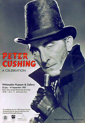 PETER CUSHING A CELEBRATION Whitstable Museum and Gallery 1995 UK POSTER