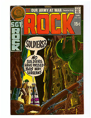 OUR ARMY AT WAR # 227  in VF+ 1971 DC WAR comic SGT ROCK JOE KUBERT cover