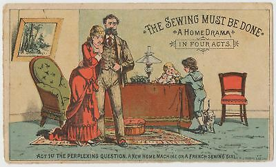The Sewing Must Be Done! Victorian Trade Card