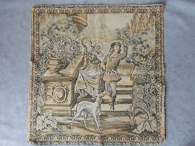 French Vintage DECORATIVE ELEGANT Tapestry 18 inches