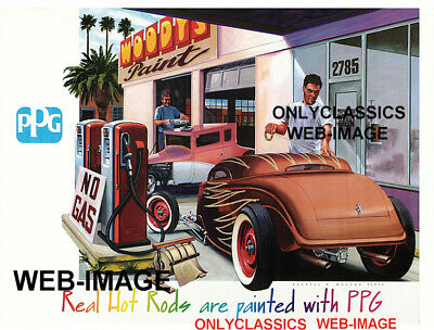 Ppg Poster Hot Rod Gas Station Woodys Paint on 2005 Chevy Lumina Z34