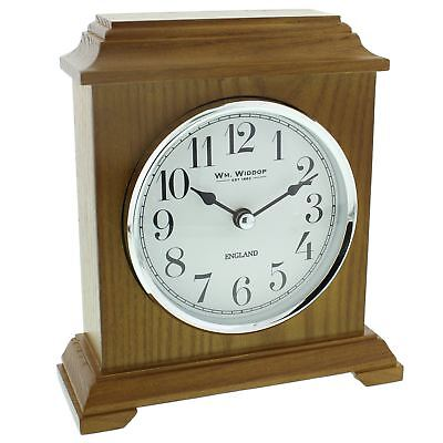 Wm Widdop Napoleon Oak Finish Wooden Mantel Clock