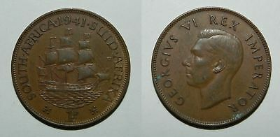 South Africa :  1941 Penny - Good Detail - Gvf