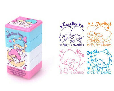 2017 Sanrio Little Twin Stars 4 Style PVC Rubber Stamper Stamps