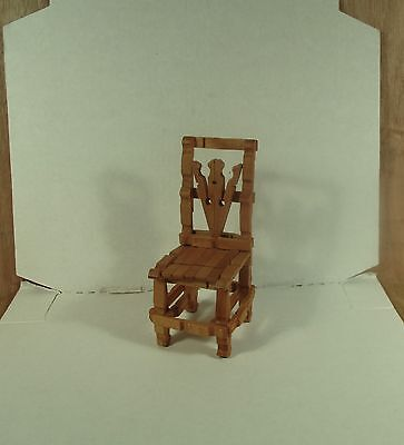 Mid Century Modern Doll House Furniture Wooden Clothes Pin Sitting Chair