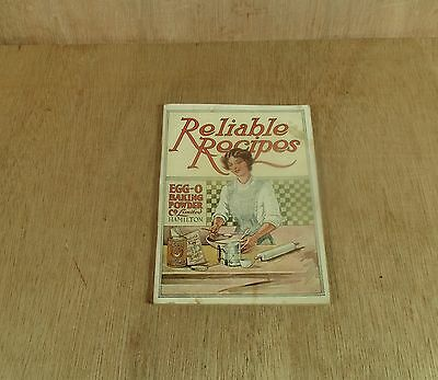 Egg-O Baking Power Co. Limited Reliable Recipes Booklet Hamilton On Ontario Ca.