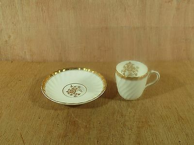 H-4680 Gold Rose Minton Demitasse Cup & Saucer Bone China Made in England