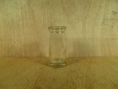 """Delaval Empty Milk or Cream Bottle 2 1/4"""" at Mouth x 4 3/4"""" High 2 1/8"""" at Base"""