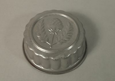 Vintage Aluminum Jelly Jello Mould Mold with Hammered Scottish Thistle Flower