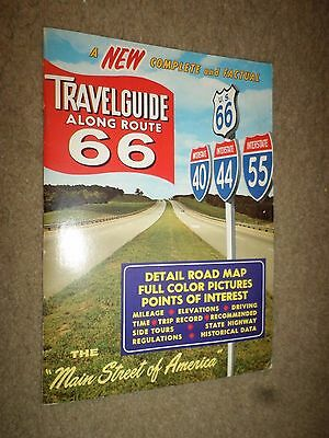 """1965 """"Travel Guide Along Route 66"""" Booklet Road Maps History (L.A. to Chicago)"""