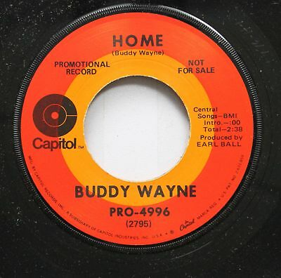 Country Promo Nm! 45 Buddy Wayne - Home / The Door Is Never Locked On Capitol