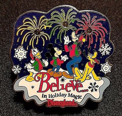 Retired 2001 Disneyland Believe In Holiday Magic Fab 4 Light Up Pin Le 3600