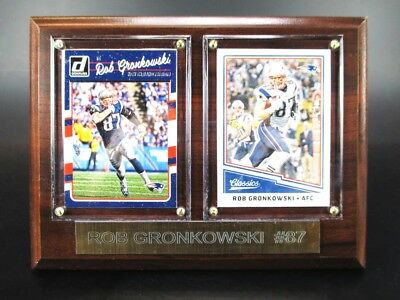 Rob Gronkowski New England Patriots Holz Wandbild 20 cm,Plaque NFL Football