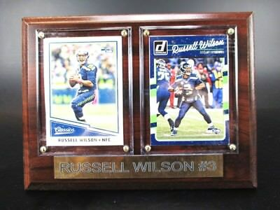 Russell Wilson Seattle Seahawks Holz Wandbild 20 cm,Plaque NFL Football !!